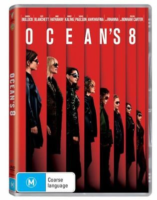 Ocean's 8 - DVD 2018 -M - Region 4 - AUS PAL - Brand New -SEALED