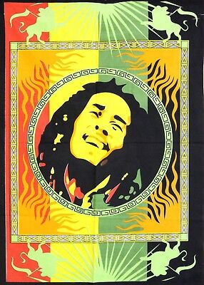 Small Collage Tapestry Poster Home Decor Bob Marley Antique Style Wall Hanging