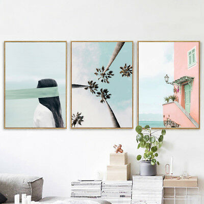 Nordic Plant Building Wall Painting Picture Poster Art Home Office Decor Fashion