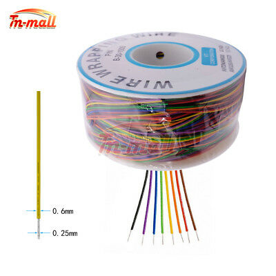 Wrapping Cable 280M 30 AWG B-30-1000 8 Wire Breadboard Jumper Colored Insulation