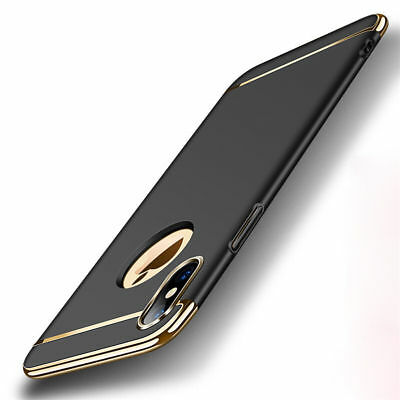 For Apple iPhone XS Max XR X Shockproof Slim Plating Hybrid Hard Back Case Cover