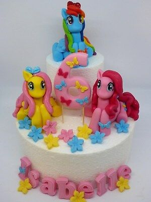 My Little Pony Edible Handmade Personalised Birthday Cake Toppers Decoration