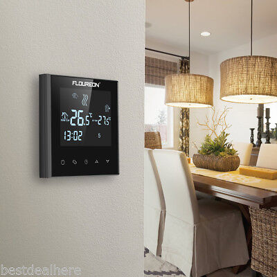 Floureon HY03WE-4 LCD Touchscreen Holzrahmen Widerstand Heizung Thermostat