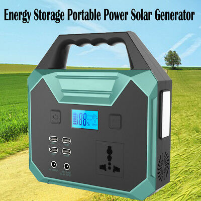 250Wh Portable Solar Panel Generator Energy Storage Battery Power Supply Charger