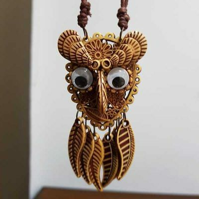 Hand Crafted Necklace - Owl Bali Handmade vintage