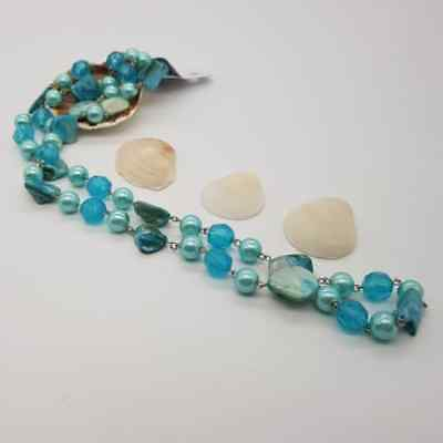 Ocean - Gemstones Necklace Bali Handmade vintage