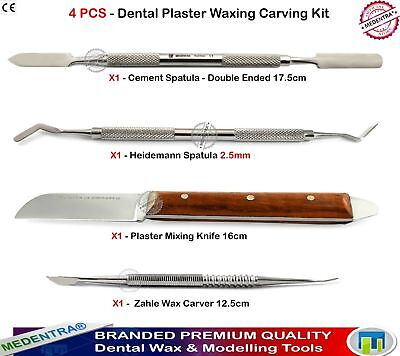 4pc Dental Lab Instruments Dentists Kit Wax Mixing Carving Plaster Knife Spatula