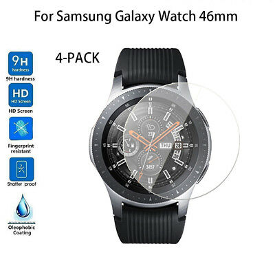 4-PACK Tempered Glass Screen Protector For Samsung Galaxy Watch 46mm