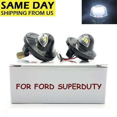 LED License Plate Light Housing for 99-16 Ford Superduty F250 F350 F450 F550 US