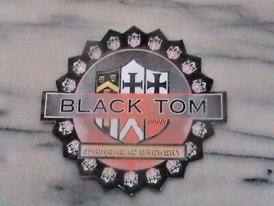 Springhead Black Tom real ale laminated beer pump clip sign nottinghamshire