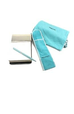 Tiffany & Co. Blocco Notes Block Pen Penna Roller Paper Argento Sterling 925
