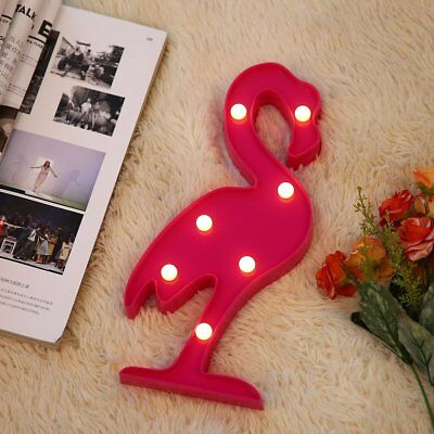 Cute Flamingo Shape LED Night-light With Remote Control LED Lighting Design QA