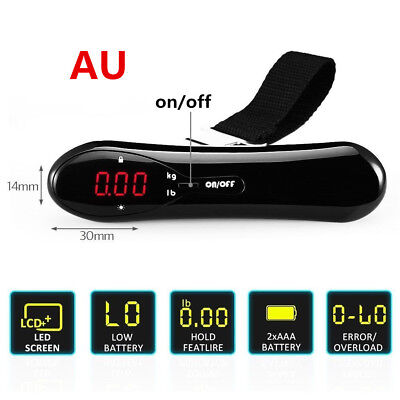 Electronic Digital Luggage Scale Travel 50 KG Measures Weight Weighing Portable