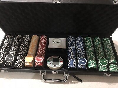 Genuine Australian Poker League (APL) 500 Piece Poker Chip Set- New Condition