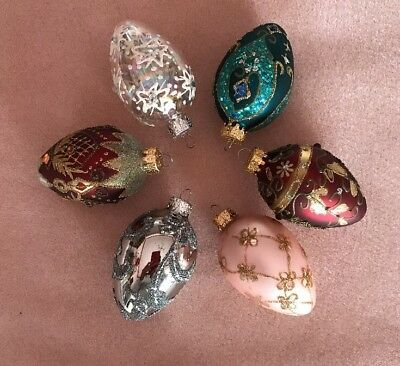 Unique Treasure Hand Blown Hand Decorated Egg Ornaments