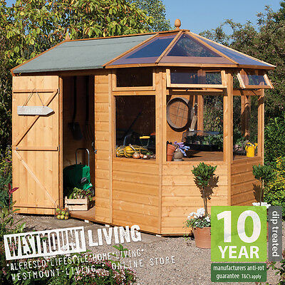 New Wooden Potting Store Allotment Shed Greenhouse