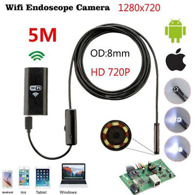 5M 8mm F99 HD Endoscopy Camera wifi Endoscopy for Android and Apple ios