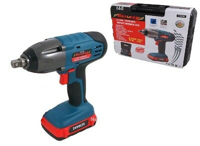 "Ex Demo 24V Lithium 1/2"" Cordless Impact Wrench Ratchet & 1 Battery & Charger"