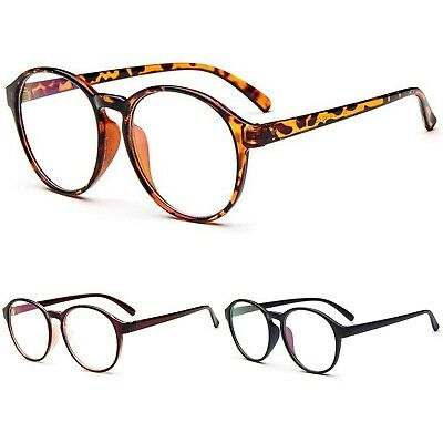 Large Oval Round Clear Lens Fashion Quality Geek Retro Style Glasses