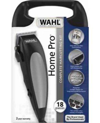 Brand New Wahl WA9243-4912 Home Pro Hair Clipper 18 Piece Hair Cutting Kit