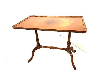 Mahogany Occasional Table Small Pie Crust Edge Side Table