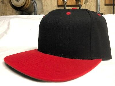 RARE Red Black Blank Starter Snapback Hat Cap Green Bottom New No Tags  vintage 43308594d61