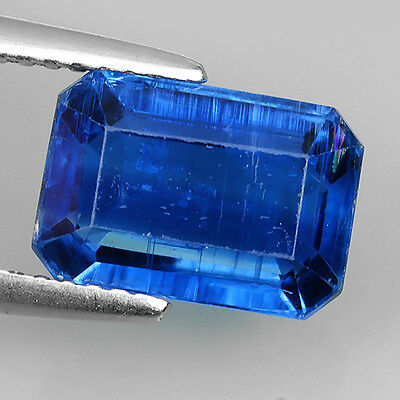 3.56 Ct Unheated Top Royal Blue Natural Kyanite Octagon Cut Loose Gemstones