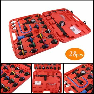 28pcs Master Cooling Radiator Pressure Tester & Vacuum Purge and Refill Kit CL