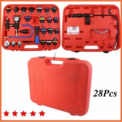 Auto 28 pcs Radiator Pressure Tester Vacuum Purge Cooling System Refill Kit CL