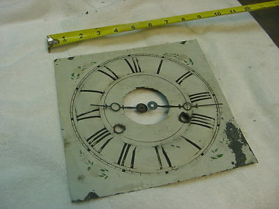 VINTAGE ANTIQUE USA WALL clock  FACE AND HANDS.  hand painted  1800s