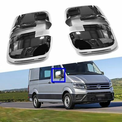 2017Up Vw Volkswagen Crafter Polished Abs Plastic Wing Mirror Covers 4Pcs