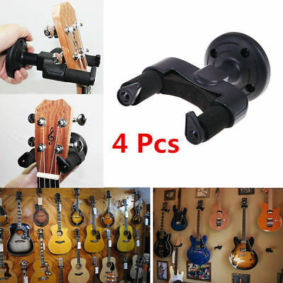 4X Guitar  Holder Wall Mount Hanger Stand Hooks Display Acoustic Electric Bass