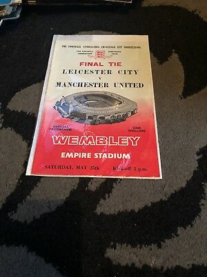 Leicester City vs Manchester United FA Cup Final programme Wembley May 25th 1963
