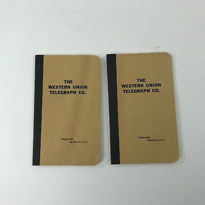 Vintage The Western Union Telegraph Co Notebooks Record Books Lined Unused