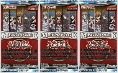 YuGiOh! Legendary Collection 2: The Duel Academy Years Mega Pack UNL Edition x3