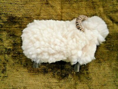 Wooly Sheep Ram Big Horn Christmas Nativity 4X6 Inches Vintage
