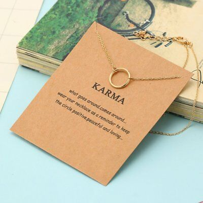 Jewelry Charm Circle Shaped Alloy Clavicle Pendant Short Chocker Necklace Gift V