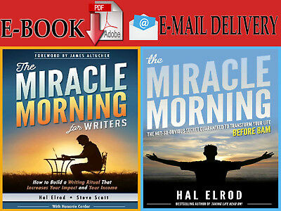 """{E-ß00K} The Miracle Morning """"For writers & The not-so-obvious"""" By HAL ELROD"""