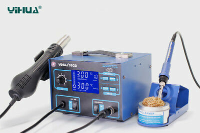 * * * PRICE LOWERED * * * SMD Rework Station Yihua 992D 2in1 with LCD Display