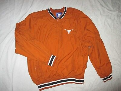 Mens Texas Long Horns Pullover Jacket By Starter Size Large