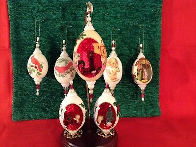 Egg Art Christmas Ornaments. Lot.  Cute Dioramas
