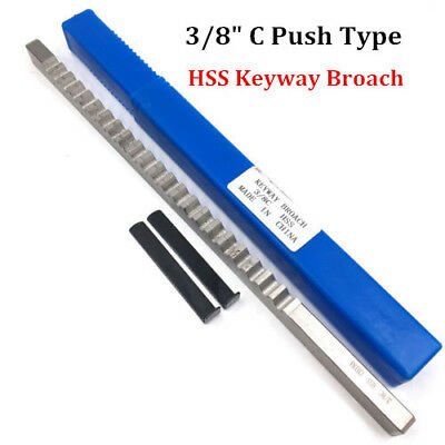 "Keyway Broach 3/8"" Inch Size C Push Type HSS CNC Involute Spline Cutting Tool"