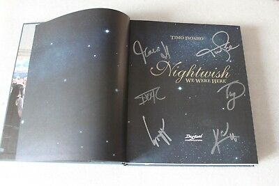 Nightwish: We Were Here - Book Signed By Band !!! Rare !!!! English Edition