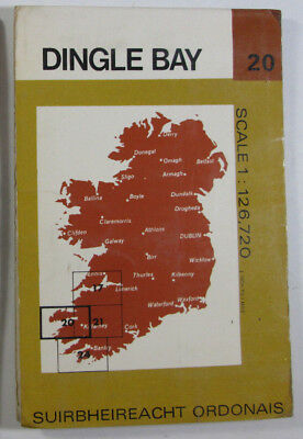 1978 Old Vintage OS Ordnance Survey of Ireland Half-inch Map 20 Dingle Bay
