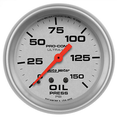 Autometer 4423 Ultra-Lite Mech Oil Pressure Gauge, 150 PSI, 2-5/8