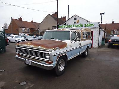 1970 Ford F250 Camper Edition Pick Up 5.7 V8 California Import Uk Registered