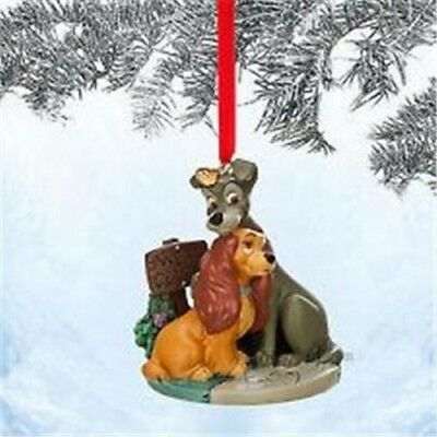 Disney Store 2014 Lady & the Tramp Sketchbook Christmas Ornament New in box
