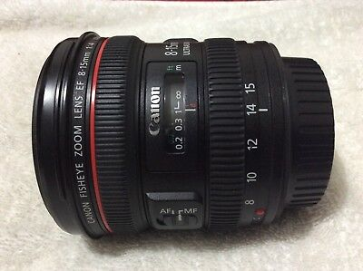 Canon EF 8-15mm f/4L Fisheye USM Fisheye Ultra-Wide Zoom Lens /look all pictures