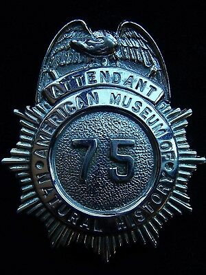 Vintage American Museum of Natural History Attendant Badge~New York City~No Resv
