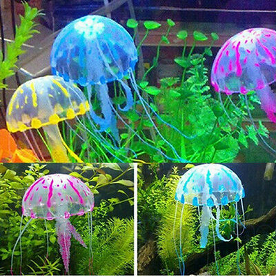 5.5'' Glowing Effect Artificial Jellyfish Fish Tank Aquarium Pet Decora Hot Sale